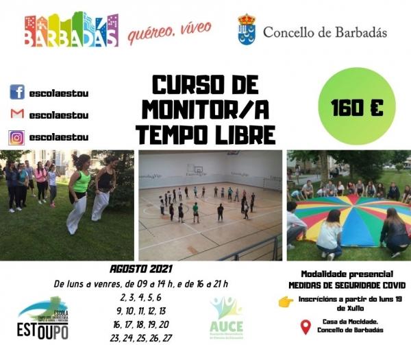 Curso en Barbadás de Monitor/a de actividades da Escola Galega de tempo libre da ETL Estoupo