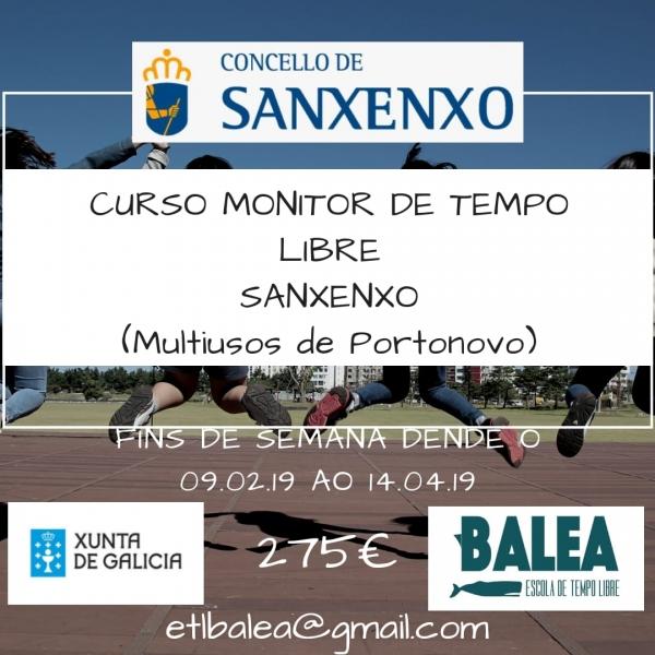 Curso de Monitor/a de Actividades de Tempo Libre en Sanxenxo