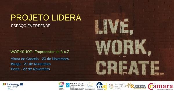 """Workshops Empreendedorismo da A á Z"":"