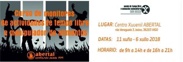 Curso de monitores/as de actividades  de Tempo Libre en Vigo