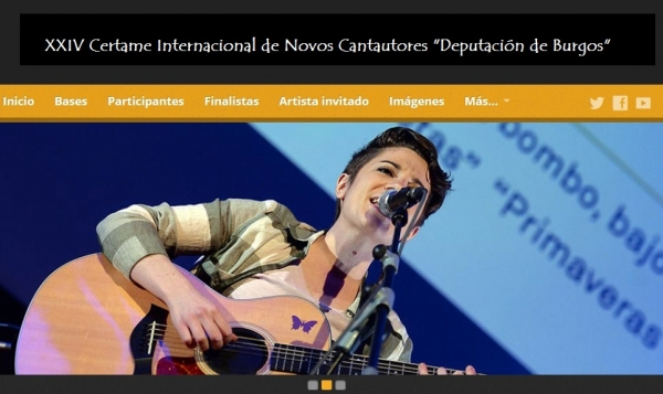 """XXIV Certame Internacional de Novos Cantautores """"Deputación de Burgos"""""""