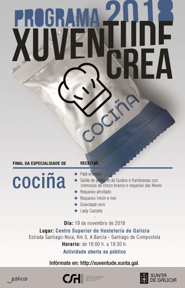 Final da especialidade de Cociña de Xuventude Crea 2018