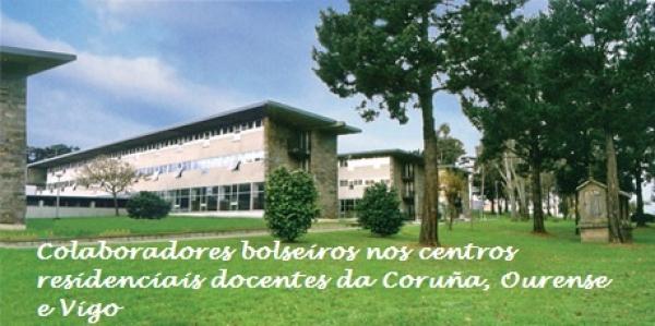 Persoas colaboradoras bolseiras nos centros residenciais docentes da Coruña, Ourense e Vigo