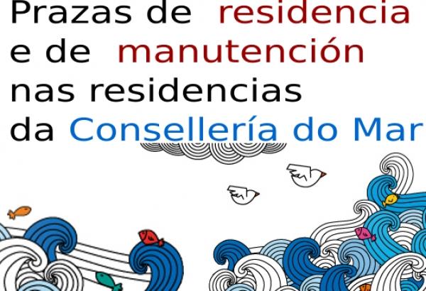 Prazas de residencia e de manutención nas residencias da Consellería do Mar