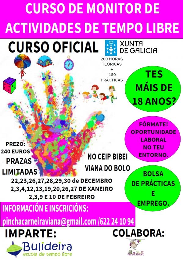 Curso de Monitor/a de actividades de tempo libre en Viana do Bolo