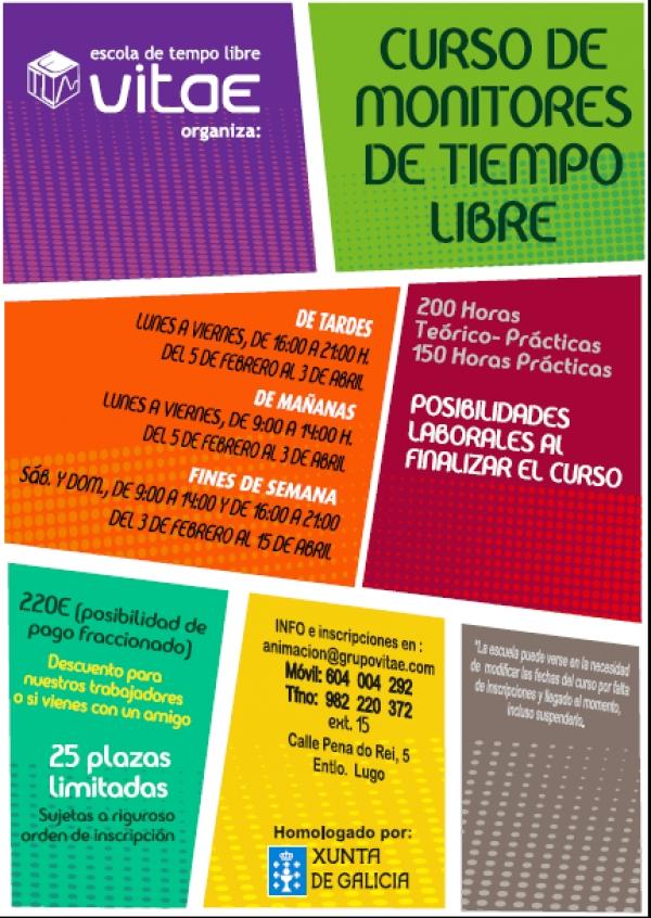 Curso de Monitores/as de actividades de tempo libre en Lugo