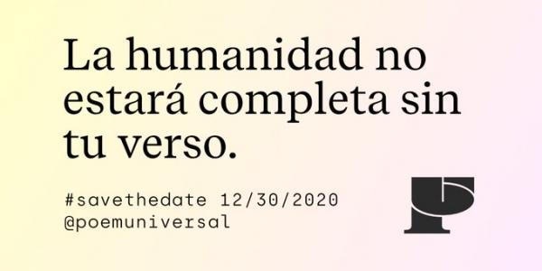 A humanidade non estará completa sen o teu verso