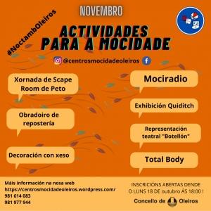 Actividades para a Mocidade en Oleiros
