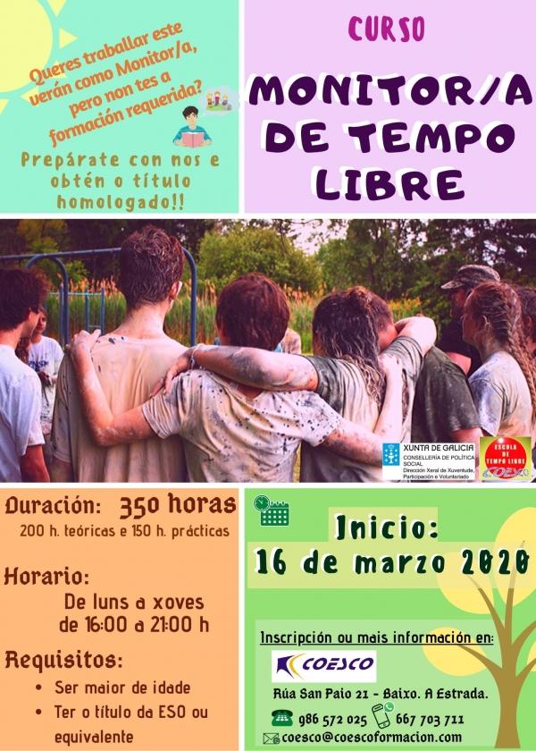 Curso de Monitor/a de Actividades de Tempo Libre da ETL Coesco na Estrada