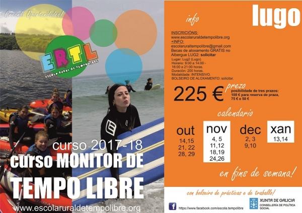Cursos de Monitor/a de actividades de tempo libre en Lugo