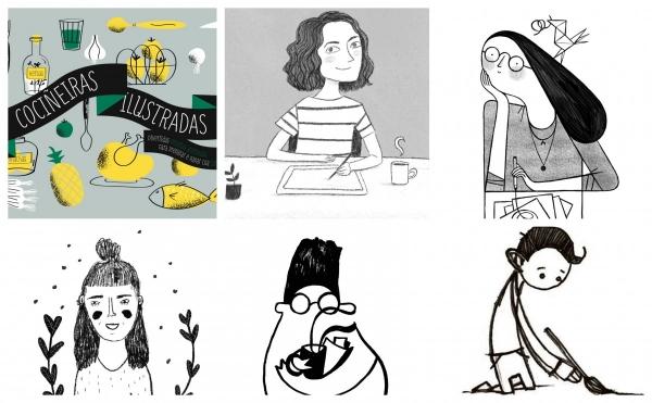Cociñeiras ilustradas