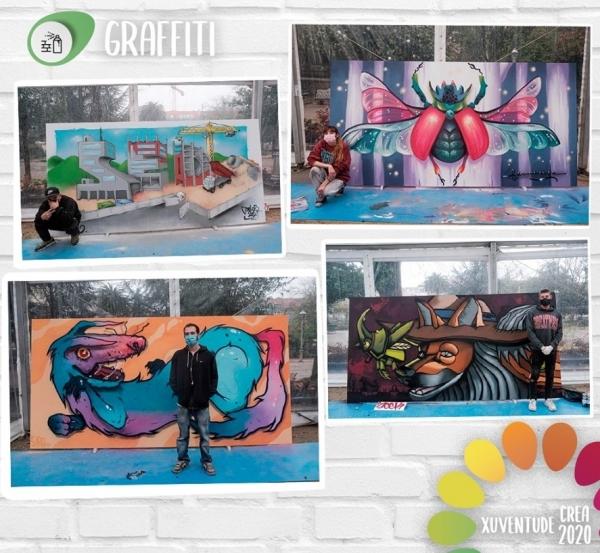 Xuventude Crea, exposición dos Graffitis premiados