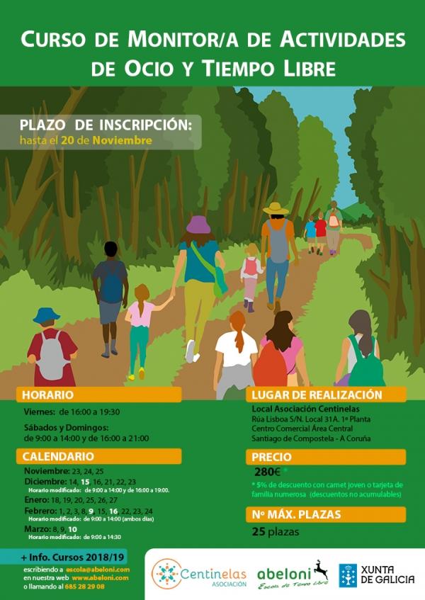 Curso de monitor/a de tempo libre en Santiago de Compostela