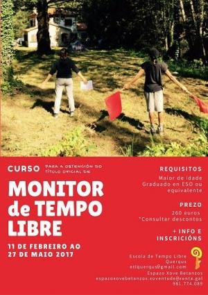 Curso de Monitor/a de tempo libre en Betanzos