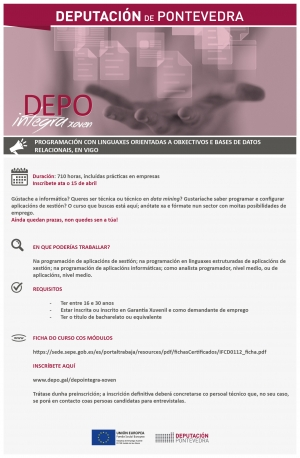 Programación con Linguaxes Orientadas a Obxectivos e Bases de Datos Relacionais en Vigo