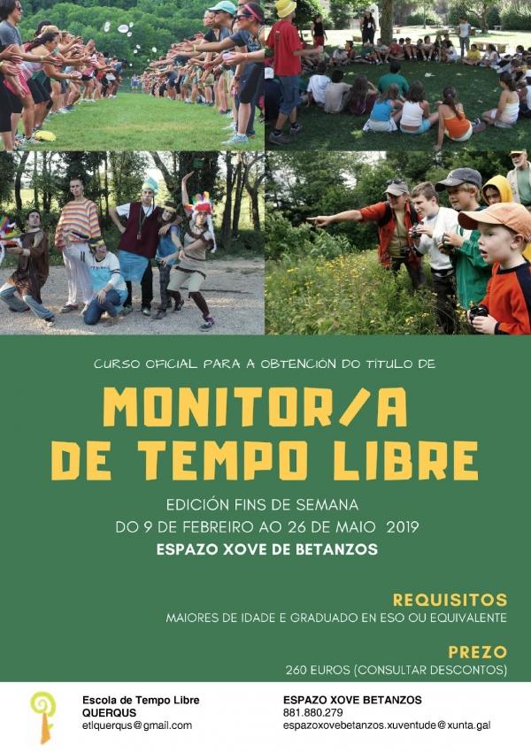 Curso de Monitoras/es de actividades de tempo libre en Betanzos