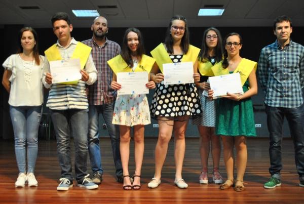 Entrega de diplomas ao equipo de Correspondentes Xuvenís do CPI mosteiro de Meis