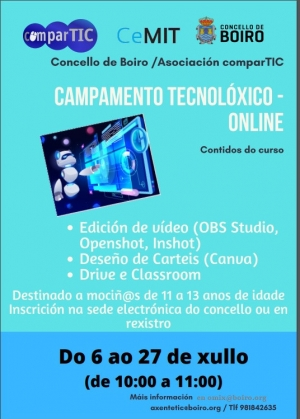 Campamento Tecnolóxico Online en Boiro