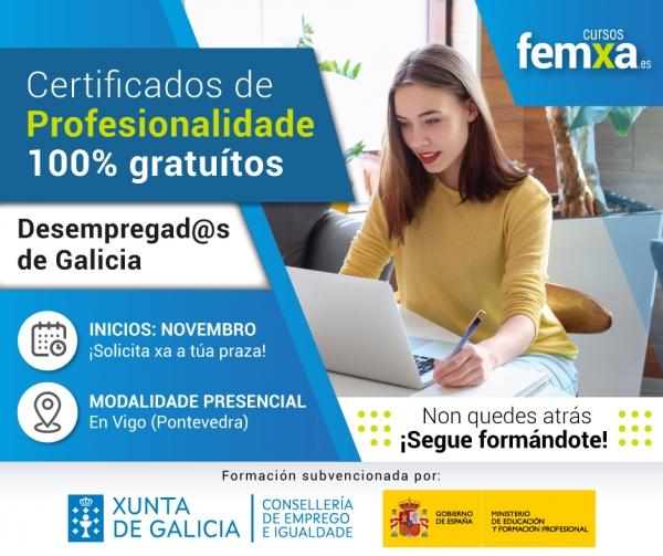 Certificados de profesionalidade para persoas desempregadas