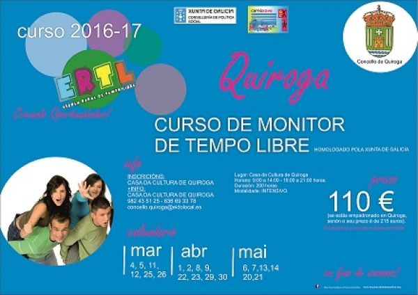 Curso de Monitor/a de actividades de tempo libre en Quiroga