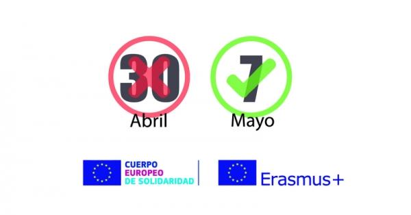 Ampliación dos prazos dos programas Erasmus+
