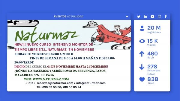 Curso intensivo de Monitor/a de actividades de tempo libre en Mazaricos