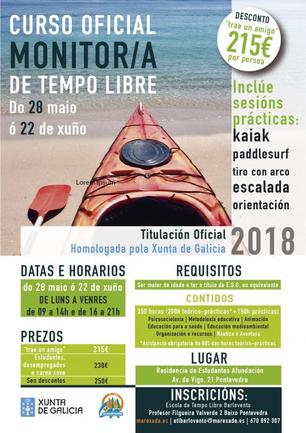 Curso de Monitor/a de actividades de tempo libre en Pontevedra