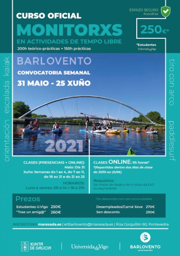 Curso en Pontevedra de Monitor/a de actividades de tempo libre da ETL Barlovento