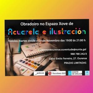 Obradoiro de acuarela e ilustración en Ourense