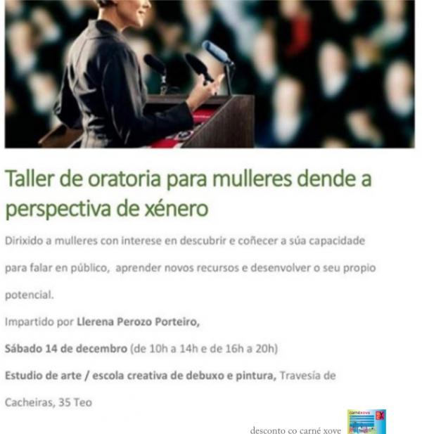 Taller de oratoria para mulleres dende a perspectiva de xénero