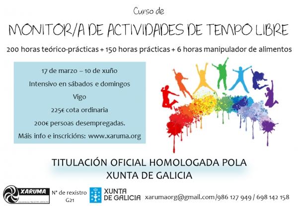 Curso de monitor de actividades de tempo libre en Vigo