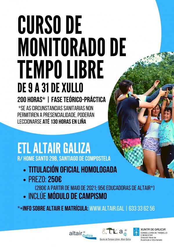 Curso en Santiago de Compostela de Monitor/a de actividades de tempo libre da ETL Altair