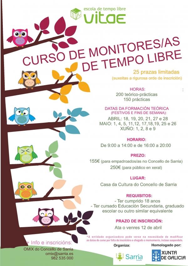 Curso de Monitor/a de actividades de Tempo Libre en Sarria