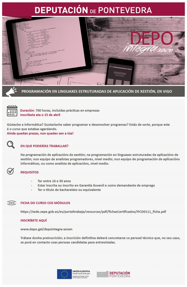 Programación en Linguaxes Estruturadas de Aplicación de Xestión en Vigo