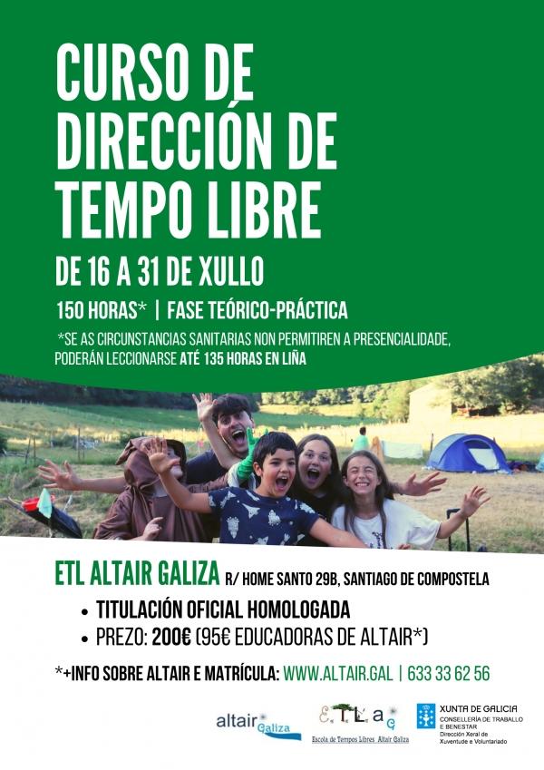 Curso en Santiago de Compostela de Director/a de actividades de tempo libre da ETL Altair