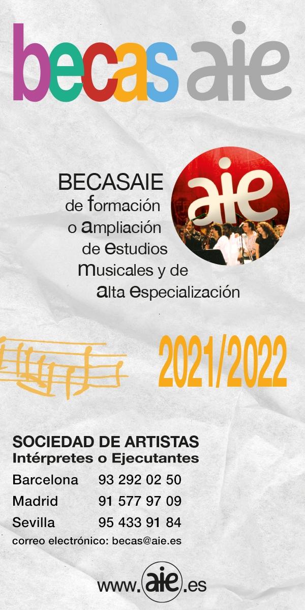 Bolsas AIE para estudos musicais 2021/2022