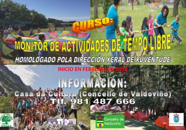 Curso de monitor/a de actividades de tempo libre en Valdoviño