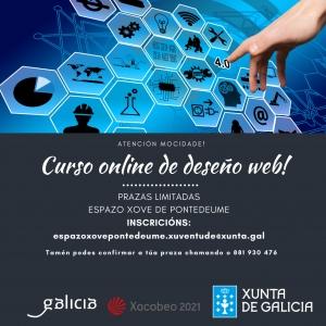 Curso online de deseño web desde o Espazo Xove de Pontedeume