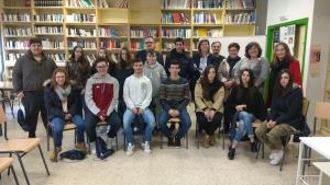 A Directora Xeral de Xuventude, Participación e Voluntariado visitou aos Correspondentes Xuvenís do IES Terra de Trasancos de Narón
