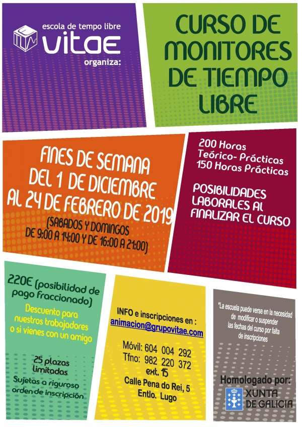 Curso de Monitores/as de actividades de ocio e tempo libre en Lugo