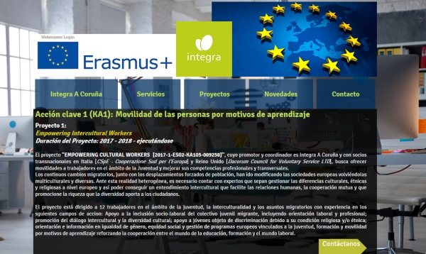 Empowering intercultural workers. Proxecto Erasmus+ KA1 Mobilidade xuvenil