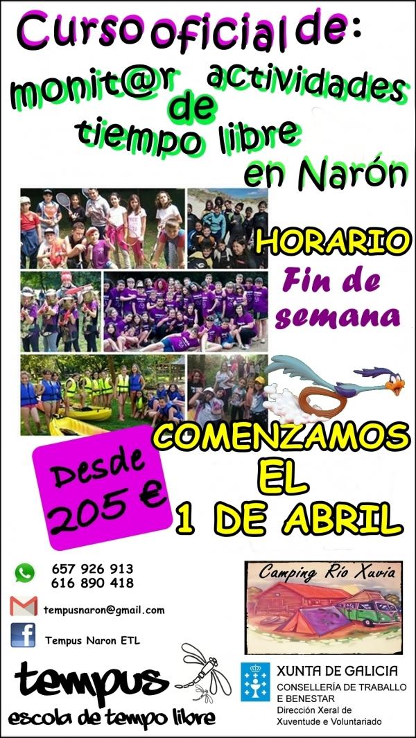 Curso de Monitor/a de actividades de tempo libre en Narón