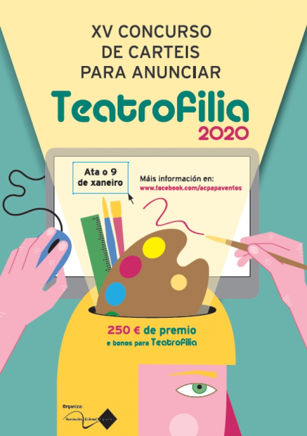 Cartel para anunciar a XVII Mostra de Teatro Amador de Vedra