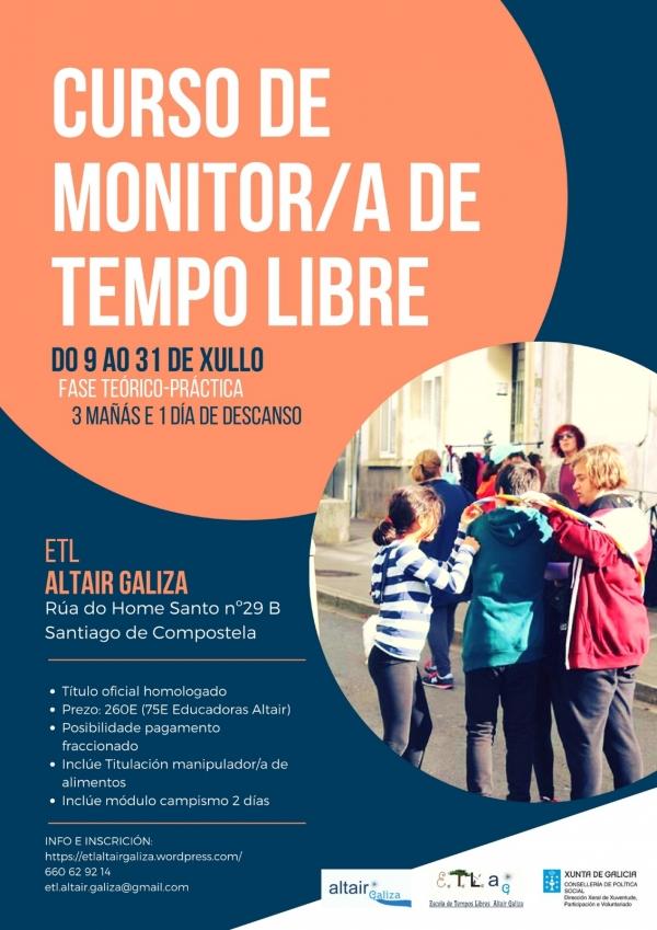 Curso intensivo de Monitoras/es de Actividades de Tempo Libre en Santiago de Compostela