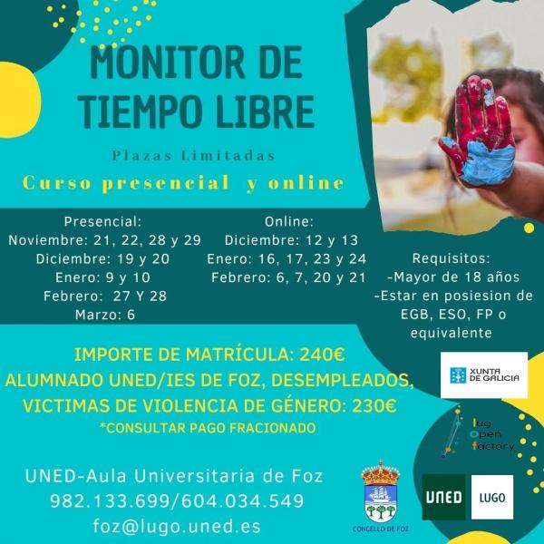 Curso de Monitores/as de actividades de tempo libre en Foz da Escola Rural de Tempo Libre