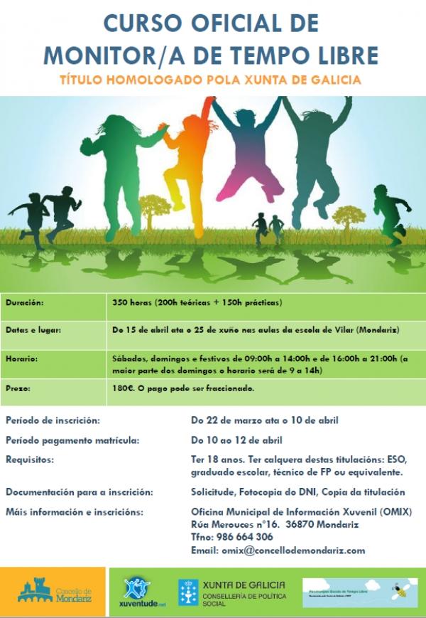Curso de Monitor/a de actividades de tempo libre en Mondariz