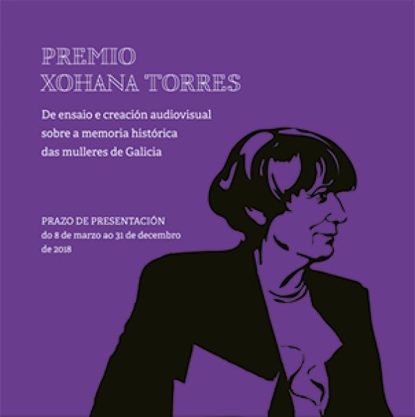 Premio Xohana Torres sobre a Memoria Histórica das Mulleres de Galicia