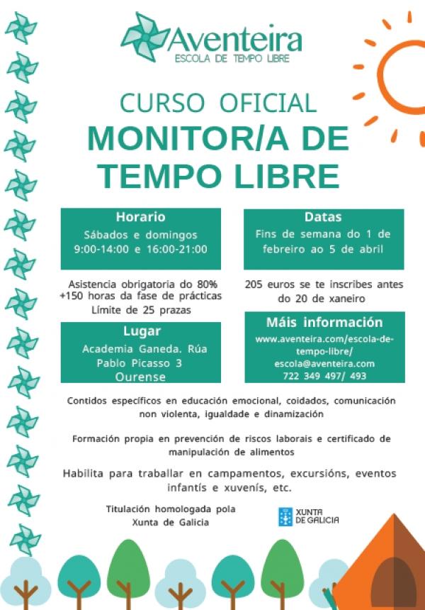 Curso de Monitor/a de actividades de tempo libre en Ourense da Escola Aventeira