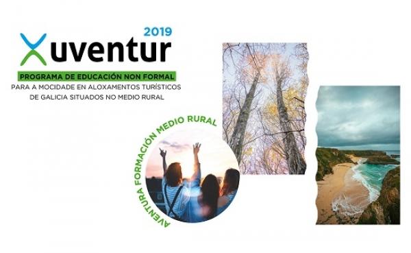Xuventur 2019: Programa de educación non formal para a mocidade en aloxamentos turísticos de Galicia situados no medio rural
