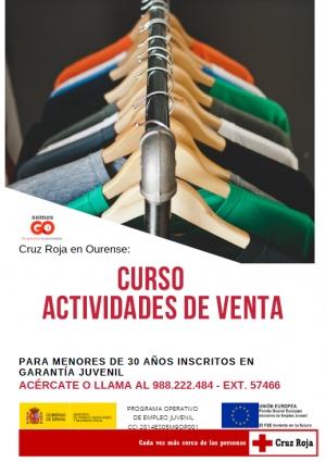 Curso de actividades de venta en Ourense